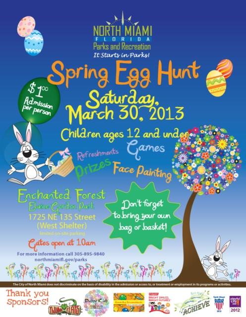 Spring Egg Hunt Flyer 2013